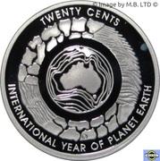 20 Cents - Elizabeth II (4th Portrait - International Year of Planet Earth; Silver Proof) -  reverse