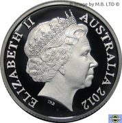 1 Dollar - Elizabeth II (4th Portrait - Wheat Sheaf Dollar - Silver Proof) -  obverse