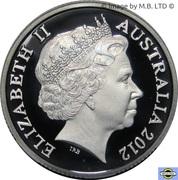 1 Dollar - Elizabeth II (4th Portrait - Wheat Sheaf Dollar) Silver Proof -  obverse
