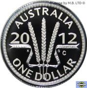1 Dollar - Elizabeth II (4th Portrait - Wheat Sheaf Dollar) Silver Proof -  reverse