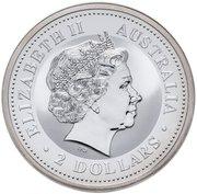 """2 Dollar - Elizabeth II (""""Lunar Year Series"""" Silver Bullion Coinage) -  obverse"""