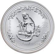 2 Dollars - Elizabeth II (4th Portrait - Year of the Monkey - Silver Bullion Coin) -  reverse