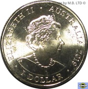 1 Dollar - Elizabeth II (6th Portrait - Australia's Bushrangers) -  obverse