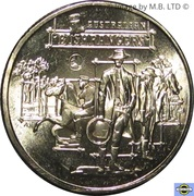 1 Dollar - Elizabeth II (6th Portrait - Australia's Bushrangers) -  reverse