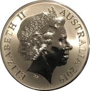1 Dollar - Elizabeth II (4th Portrait - Mob of Roos Silver Bullion Coinage) -  obverse