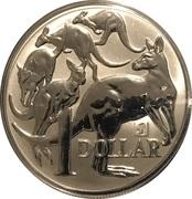 1 Dollar - Elizabeth II (4th Portrait - Mob of Roos Silver Bullion Coinage) -  reverse