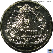 1 Dollar - Elizabeth II (4th Portrait - Treaty of Versailles) -  reverse