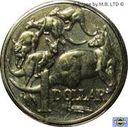 1 Dollar - Elizabeth II (5th portrait - Mob of Roos) -  reverse