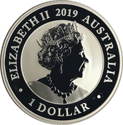 1 Dollar - Elizabeth II (6th Portrait - Bird of Paradise) -  obverse