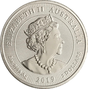2 Dollars - Elizabeth II (6th Portrait - Crocodile - Silver Bullion Coin) -  obverse