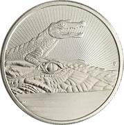 2 Dollars - Elizabeth II (6th Portrait - Crocodile - Silver Bullion Coin) -  reverse