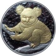 1 Dollar - Elizabeth II (4th Portrait - Koala - Silver Bullion - Gilded) -  reverse