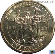 1 Dollar - Elizabeth II (4th Portrait - Mutiny & Rebellion - The Rum Rebellion) -  reverse