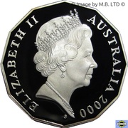 50 Cents - Elizabeth II (Royal Visit - Silver Proof Issue) -  obverse