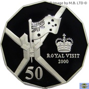 50 Cents - Elizabeth II (5th Portrait - Royal Visit - Silver Proof) – reverse