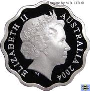 1 Dollar - Elizabeth II (4th Portrait - Masterpieces in Silver - Aboriginal 5 Kangaroos) -  obverse