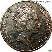 20 Cents - Elizabeth II (3rd Portrait - United Nations) – obverse