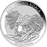 "10 Cents - Elizabeth II (""Koala"" Silver Bullion Coinage) -  reverse"