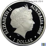 1 Dollar - Elizabeth II (4th Portrait - Year of the Rat - Silver Proof) – obverse