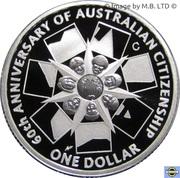 1 Dollar - Elizabeth II (4th Portrait - Australian Citizenship - Silver Proof Issue) -  reverse