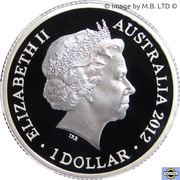 1 Dollar - Elizabeth II (4th Portrait - Year of the Dragon - Silver Proof) – obverse