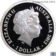 1 Dollar - Elizabeth II (4th Portrait - Year of the Dragon - Silver Proof) -  obverse