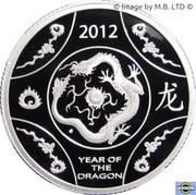 1 Dollar - Elizabeth II (4th Portrait - Year of the Dragon - Silver Proof) -  reverse
