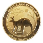 50 Dollars - Kangaroo (1/2 once gold) -  reverse