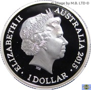 1 Dollar - Elizabeth II (4th Portrait - Year of the Goat - Silver Proof) -  obverse