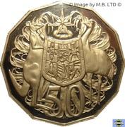 50 Cents - Elizabeth II (3rd portrait) -  reverse