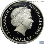 1 Dollar - Elizabeth II (4th Portrait - 60th Anniversary of the Korean War - Silver Proof) – obverse