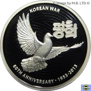 1 Dollar - Elizabeth II (4th Portrait - 60th Anniversary of the Korean War - Silver Proof) -  reverse