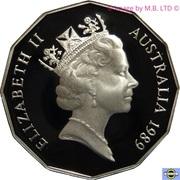 50 Cents - Elizabeth II (3rd Portrait - Masterpieces in Silver - Silver Jubilee) -  obverse