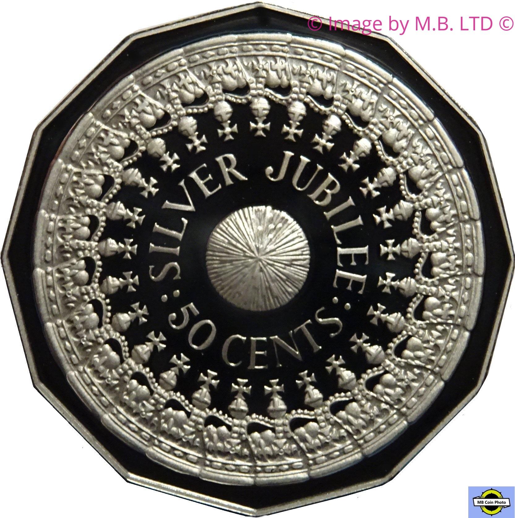 "Australia 50 cents 1977 km#70 /""Silver Jubilee/"" UNC"