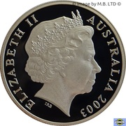 20 Cents - Elizabeth II (Volunteers) Silver Proof -  obverse