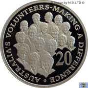 20 Cents - Elizabeth II (Volunteers) Silver Proof -  reverse