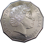 50 Cents - Elizabeth II (Gymnastics) -  obverse