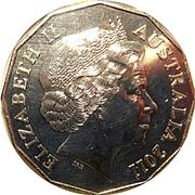 50 Cents - Elizabeth II (50 Years of Triple Zero) -  obverse
