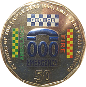 50 Cents - Elizabeth II (50 Years of Triple Zero) -  reverse