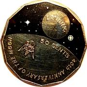 50 Cents - Elizabeth II (Moon Landing) -  reverse