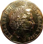 50 Cents - Elizabeth II (Weightlifting) -  obverse