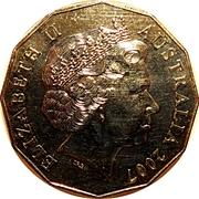 50 Cents - Elizabeth II (Diamond Wedding) -  obverse