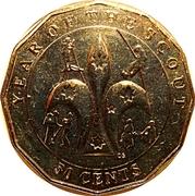50 Cents - Elizabeth II (Scouting) -  reverse