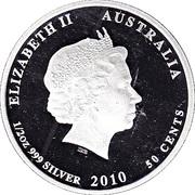 50 Cents - Elizabeth II (4th Portrait - Seahorse) -  obverse