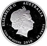 50 Cents - Elizabeth II (Moray Eel) -  obverse