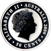50 Cents - Elizabeth II (4th Portrait - Koala - Silver Bullion) -  obverse
