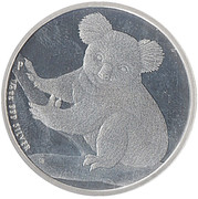 50 Cents - Elizabeth II (4th Portrait - Koala - Silver Bullion) -  reverse