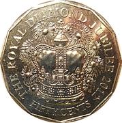 50 Cents - Elizabeth II (4th Portrait - Diamond Jubilee) – reverse