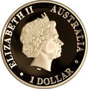 1 Dollar - Elizabeth II (Kookaburra silver proof high relief) -  obverse