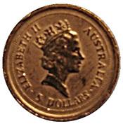 5 Dollars - Elizabeth II (4th Portrait - Australian Nugget - Gold Bullion Coin) -  obverse